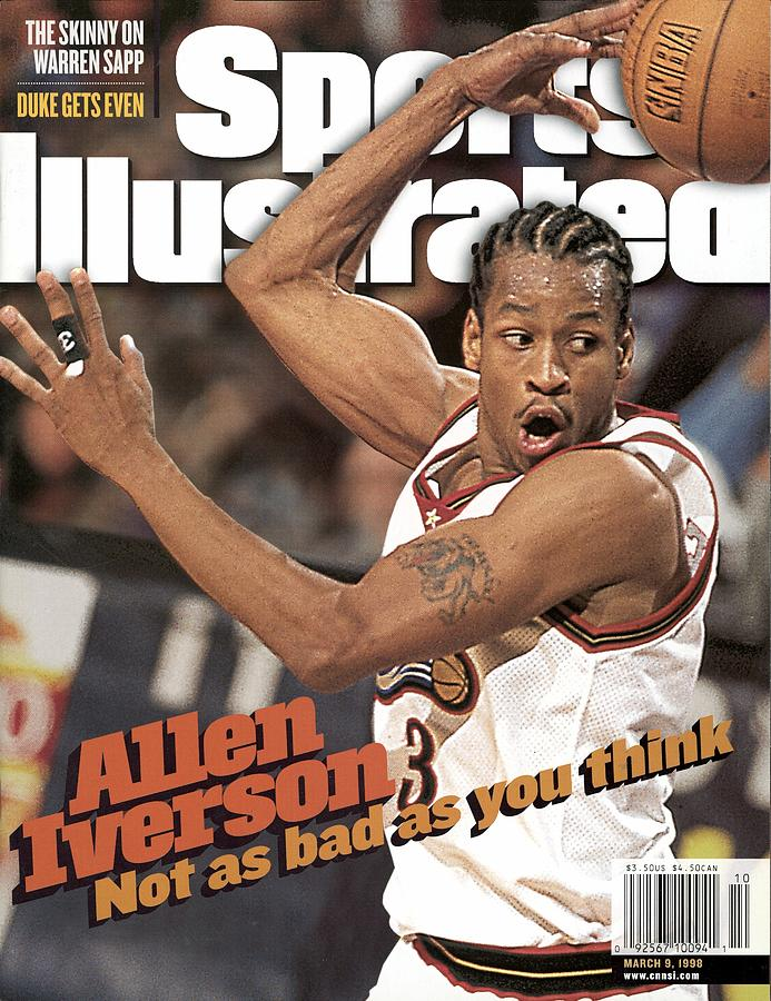 Philadelphia 76ers Allen Iverson... Sports Illustrated Cover Photograph by Sports Illustrated