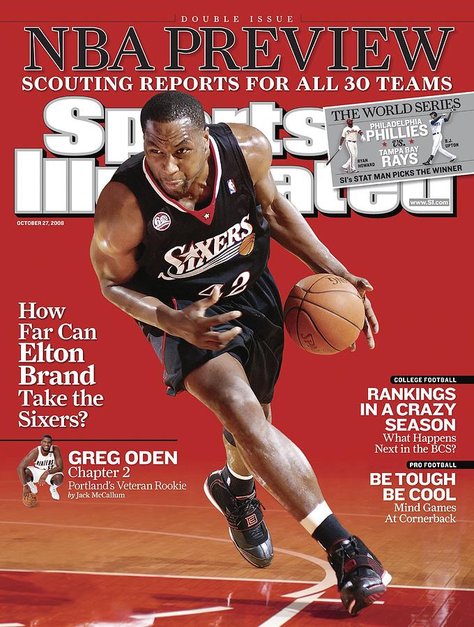 Philadelphia 76ers Elton Brand... Sports Illustrated Cover Photograph by Sports Illustrated