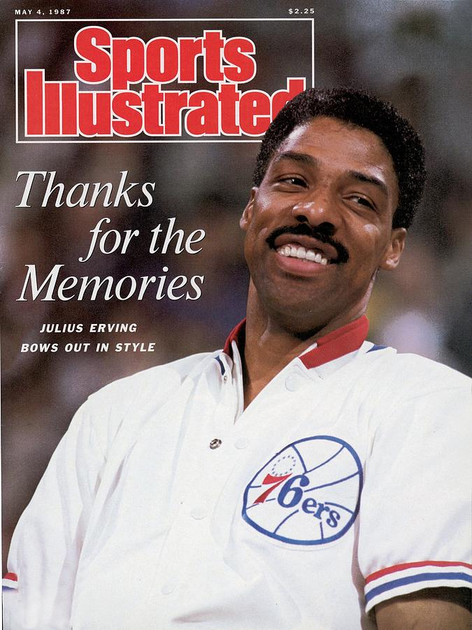 Philadelphia 76ers Julius Erving Sports Illustrated Cover Photograph by Sports Illustrated