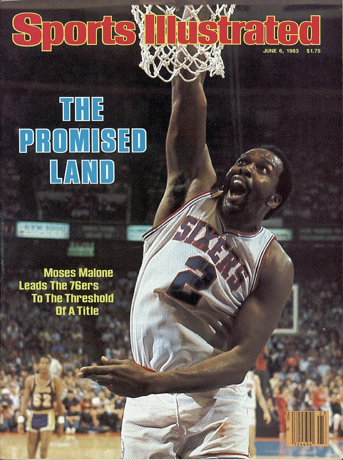 Philadelphia 76ers Moses Malone, 1983 Nba Finals Sports Illustrated Cover Photograph by Sports Illustrated