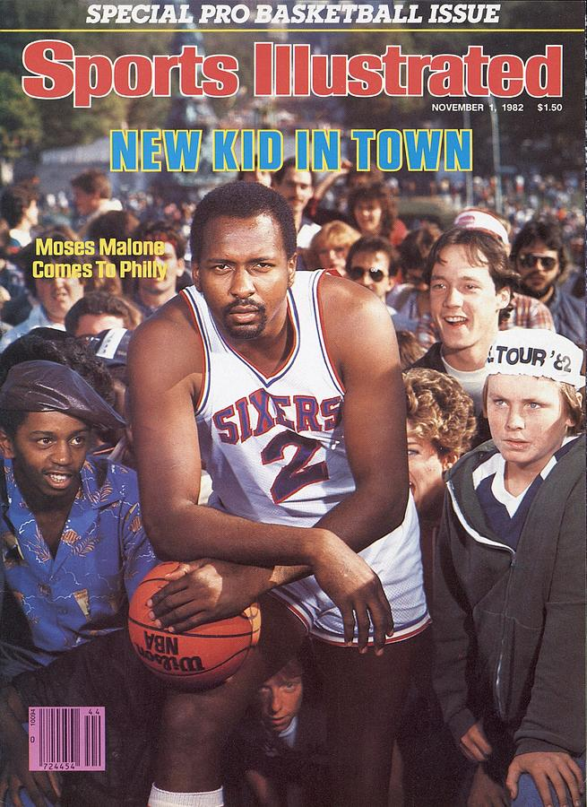Philadelphia 76ers Moses Malone Sports Illustrated Cover Photograph by Sports Illustrated
