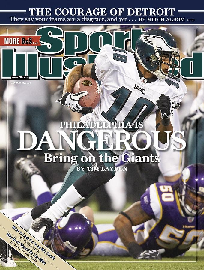 Philadelphia Eagles Desean Jackson, 2009 Nfc Wild Card Sports Illustrated Cover Photograph by Sports Illustrated