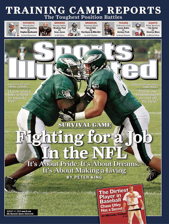 Philadelphia Eagles Jamaal Jackson And Hank Fraley, 2006 Sports Illustrated Cover Photograph by Sports Illustrated