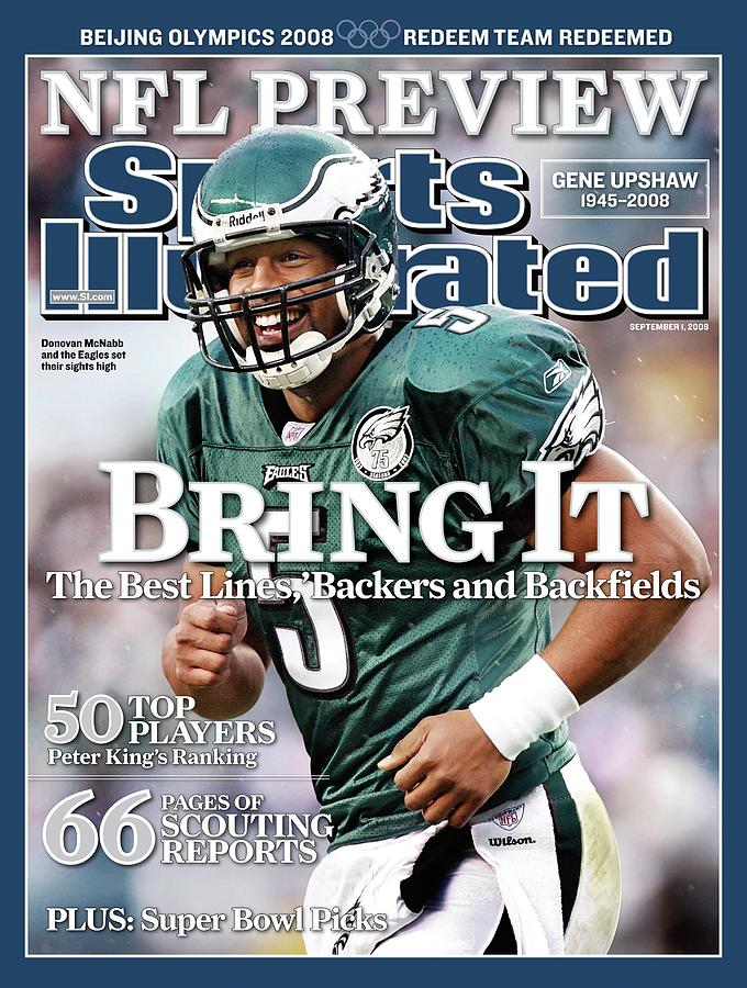 Philadelphia Eagles Qb Donovan Mcnabb, 2008 Nfl Football Sports Illustrated Cover Photograph by Sports Illustrated