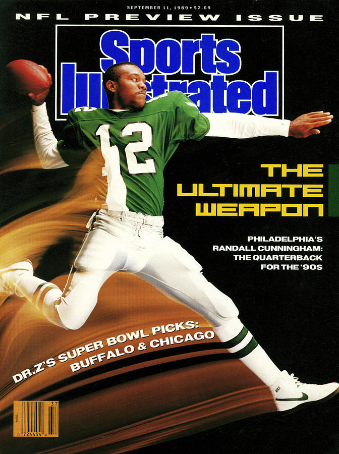 Philadelphia Eagles Qb Randall Cunningham, 1989 Nfl Sports Illustrated Cover Photograph by Sports Illustrated
