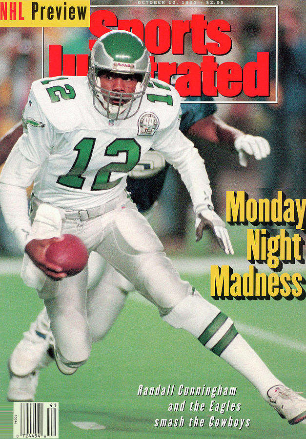 Philadelphia Eagles Qb Randall Cunningham... Sports Illustrated Cover Photograph by Sports Illustrated
