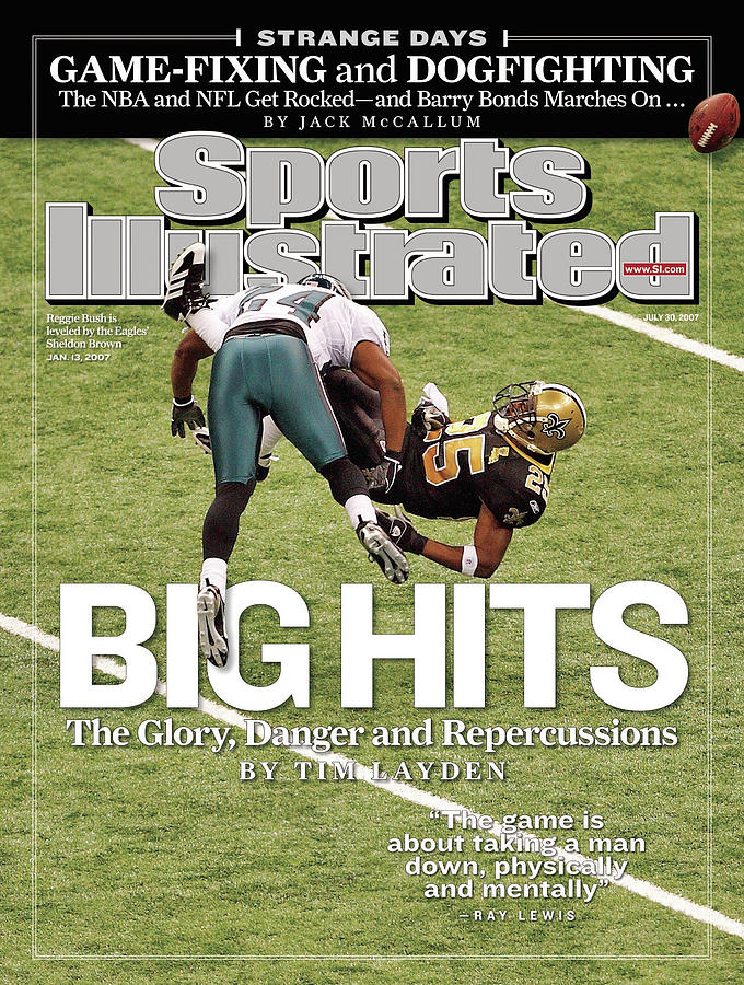Philadelphia Eagles Sheldon Brown, 2007 Nfc Divisional Sports Illustrated Cover Photograph by Sports Illustrated