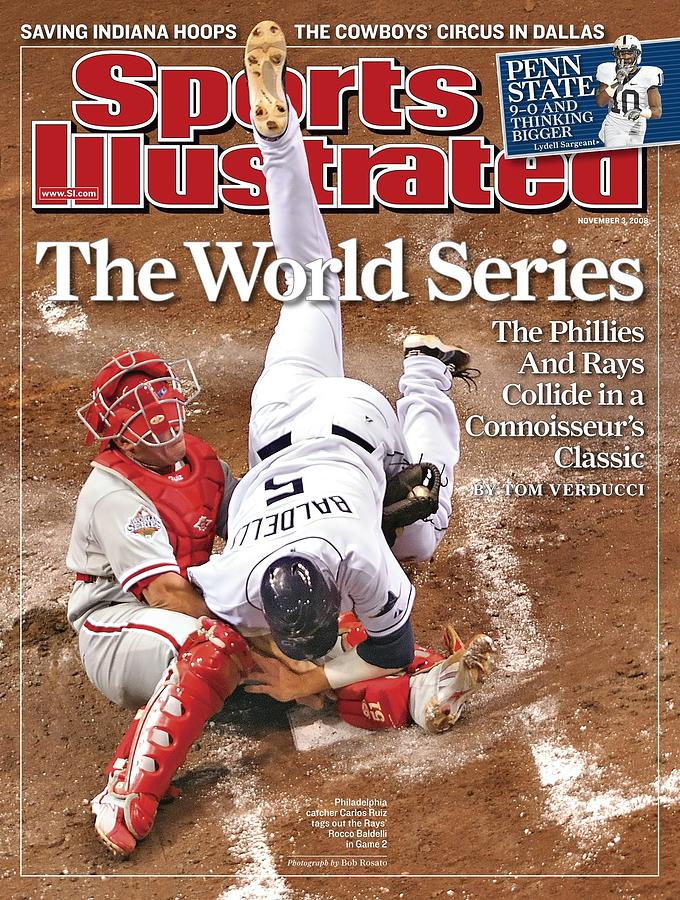 Philadelphia Phillies Carlos Ruiz, 2008 World Series Sports Illustrated Cover Photograph by Sports Illustrated