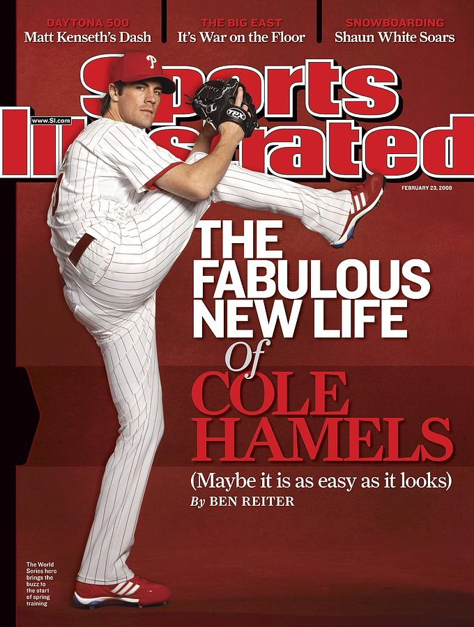 Philadelphia Phillies Cole Hamels Sports Illustrated Cover Photograph by Sports Illustrated