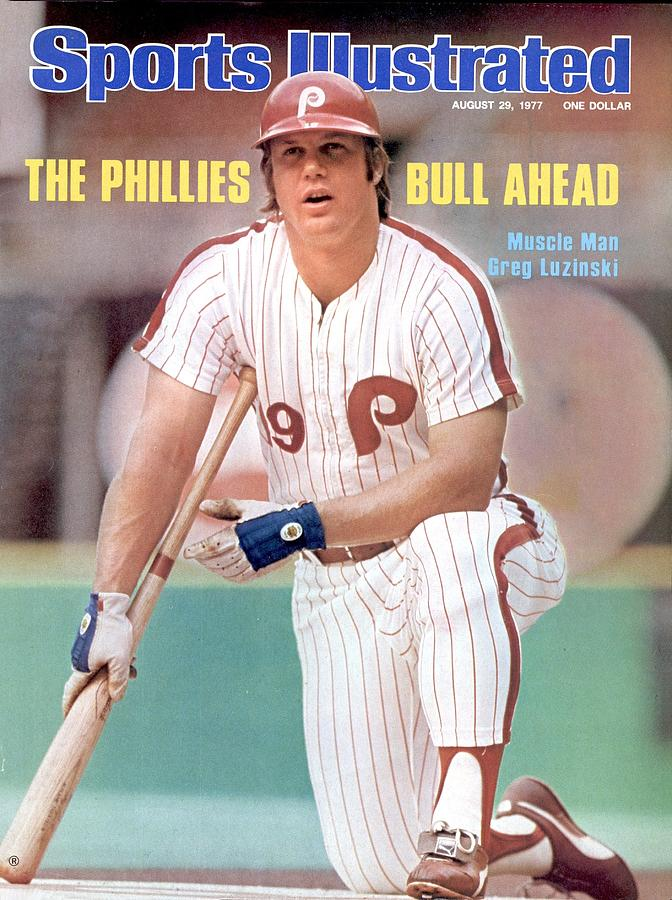 Philadelphia Phillies Greg Luzinski... Sports Illustrated Cover Photograph by Sports Illustrated