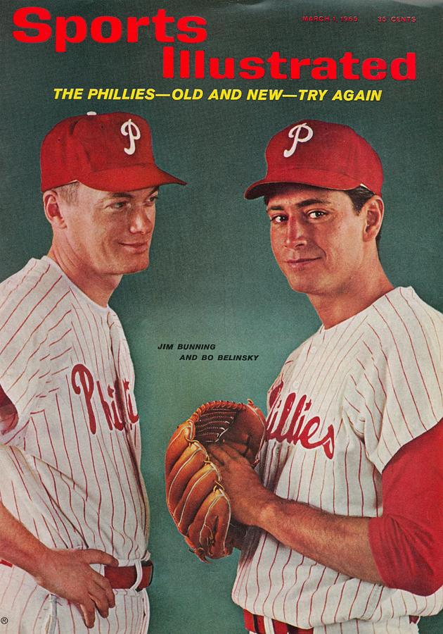 Philadelphia Phillies Jim Bunning And Bo Belinsky Sports Illustrated Cover Photograph by Sports Illustrated