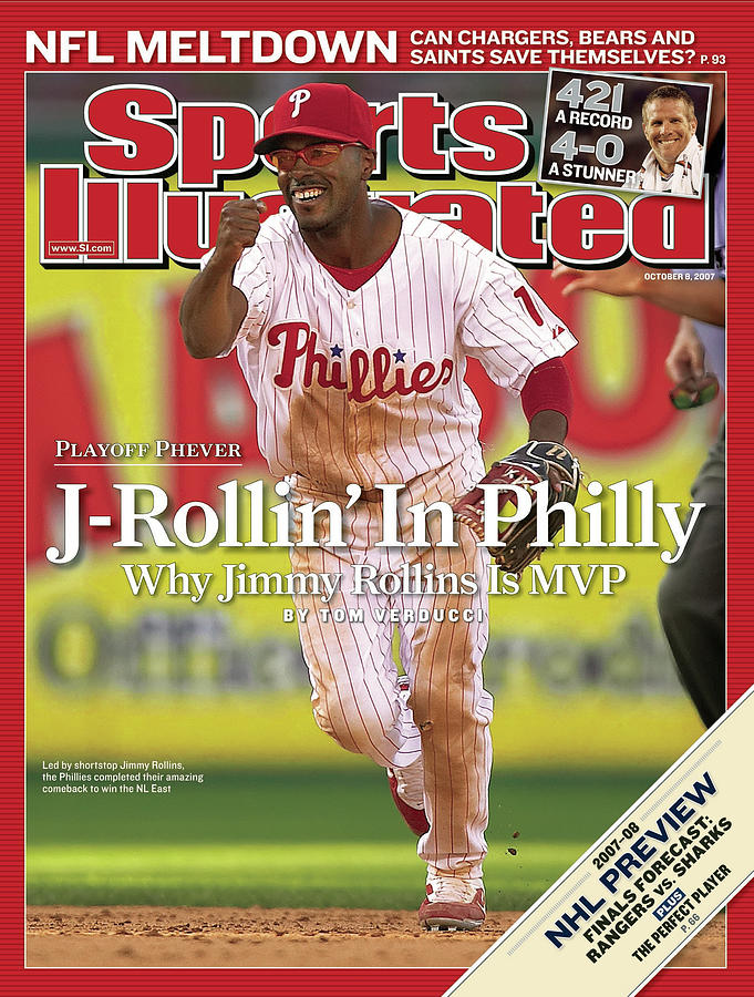 Philadelphia Phillies Jimmy Rollins... Sports Illustrated Cover Photograph by Sports Illustrated