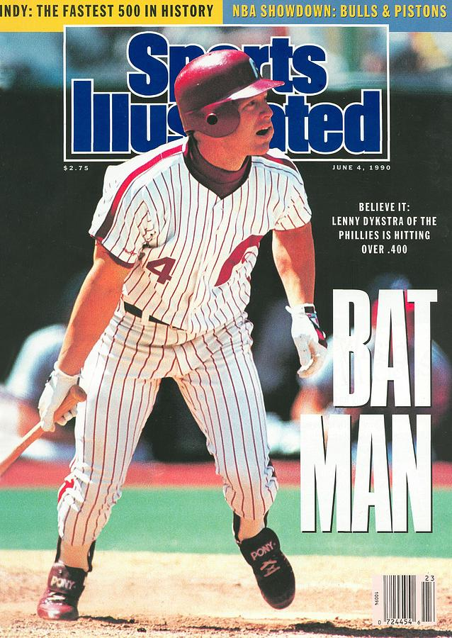 Philadelphia Phillies Lenny Dykstra... Sports Illustrated Cover Photograph by Sports Illustrated