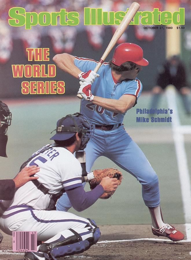 Philadelphia Phillies Mike Schmidt, 1980 World Series Sports Illustrated Cover Photograph by Sports Illustrated
