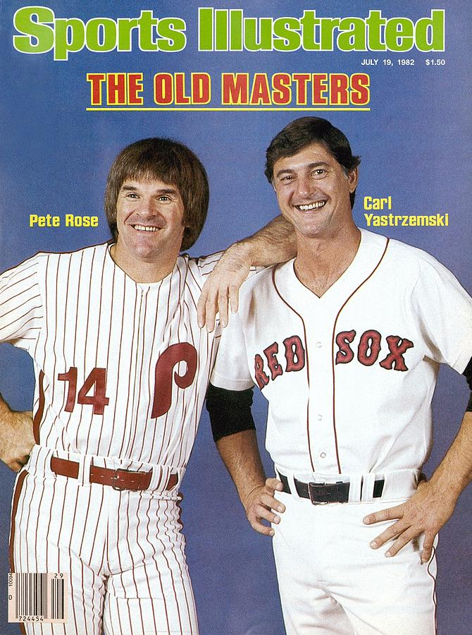 Philadelphia Phillies Pete Rose And Boston Red Sox Carl Sports Illustrated Cover Photograph by Sports Illustrated