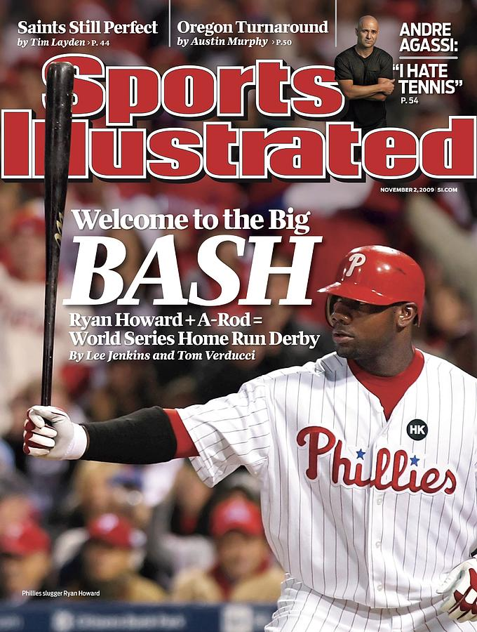 Philadelphia Phillies Ryan Howard, 2009 Nl Championship Sports Illustrated Cover Photograph by Sports Illustrated