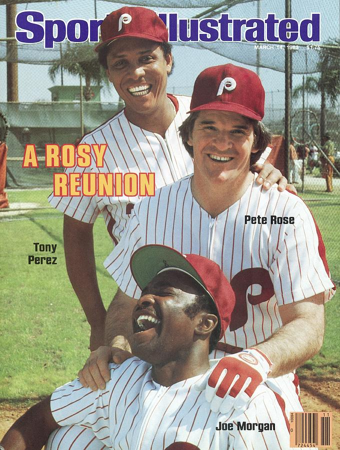 Philadelphia Phillies Tony Perez, Pete Rose, And Joe Morgan Sports Illustrated Cover Photograph by Sports Illustrated