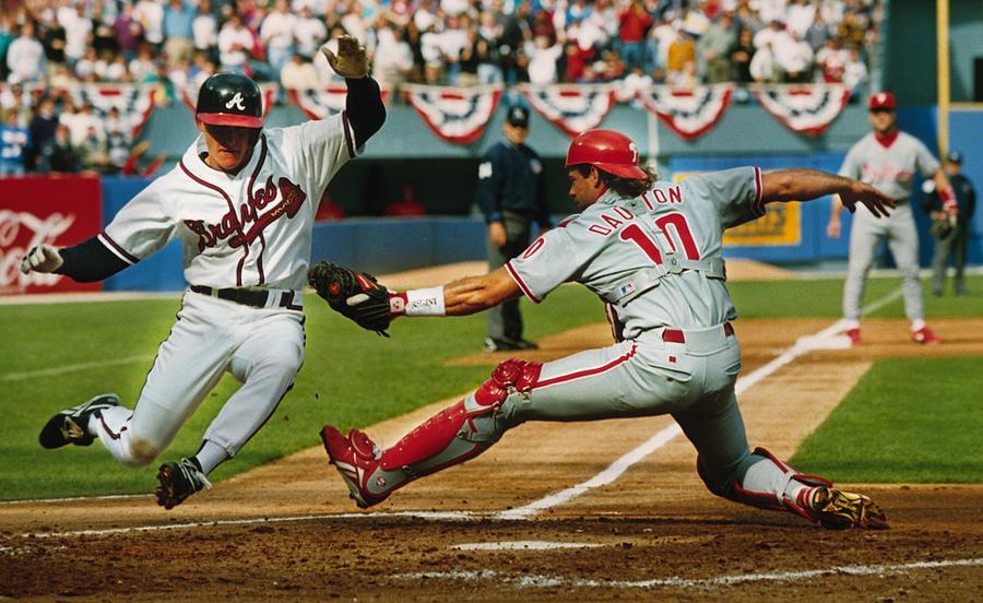 Philadelphia Phillies V Atlanta Braves Photograph by Ronald C. Modra/sports Imagery