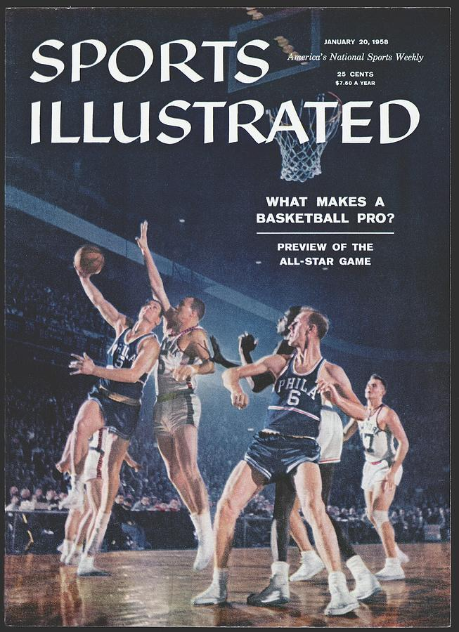 Philadelphia Warriors George Dempsey And Neil Johnston Sports Illustrated Cover Photograph by Sports Illustrated