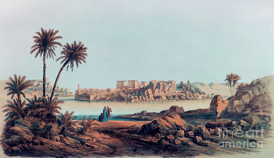 Philae, Egypt, 1842-1845. Artist E Drawing by Print Collector