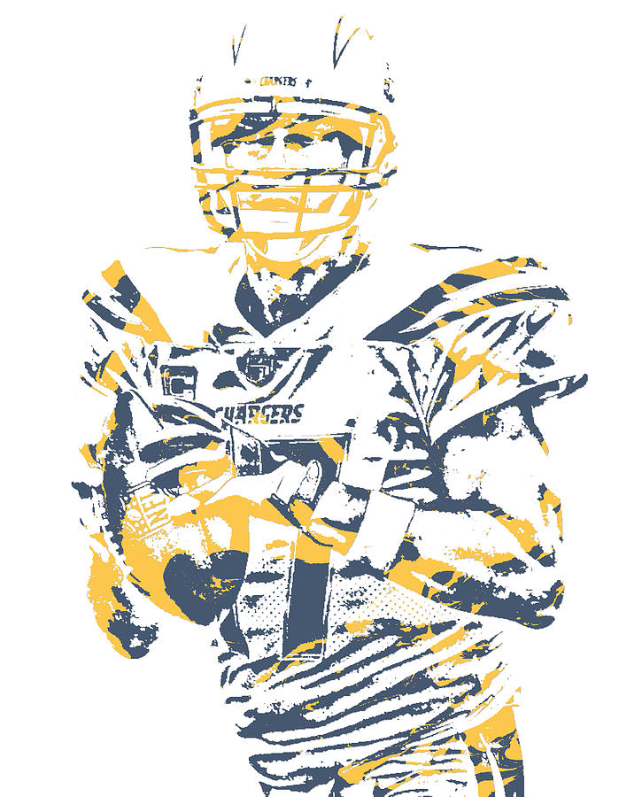 Philip Rivers Los Angeles Chargers Pixel Art 61