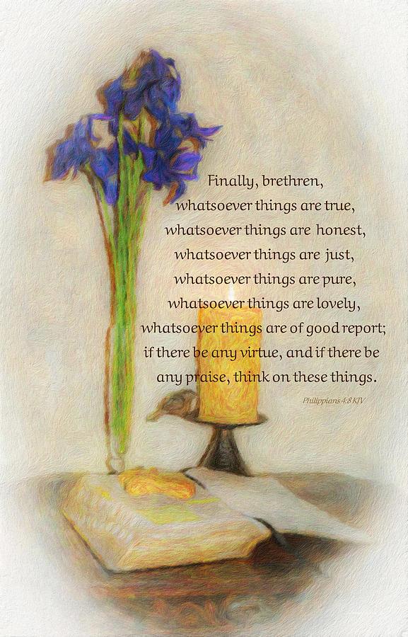 Philippians 4 8 by Diane Lindon Coy