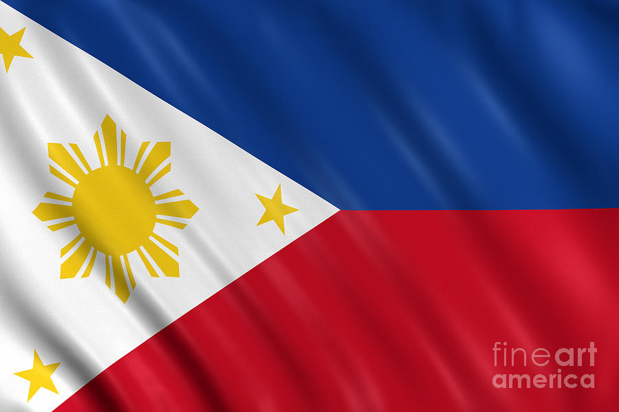 Philippines Flag Photograph by Visual7