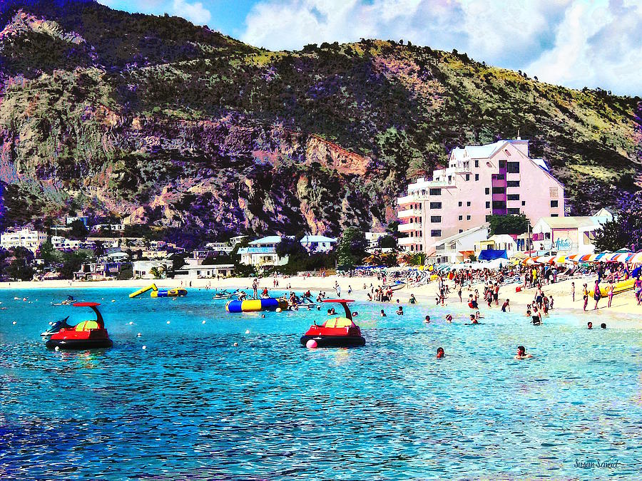 Philipsburg Sint Maarten Beach by Susan Savad