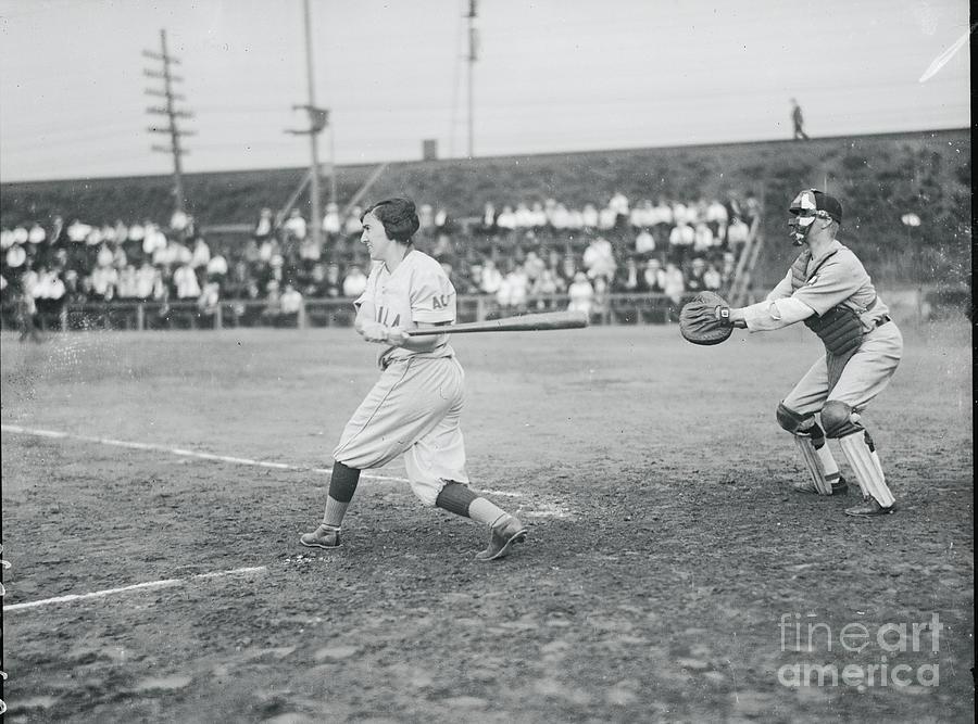 Phillies Girl Baseball Team Opens Season Photograph by Bettmann