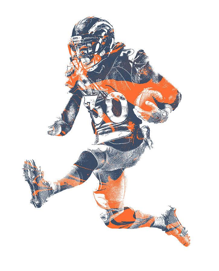 the latest 5f259 820f7 Phillip Lindsay Denver Broncos Pixel Art 2