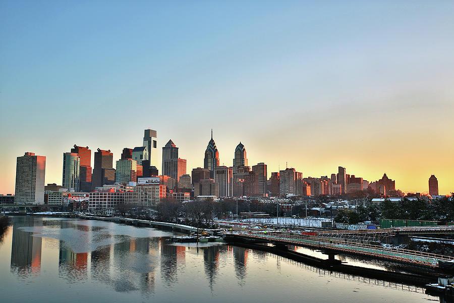 Philly Illuminated Photograph by Valentin Prokopets