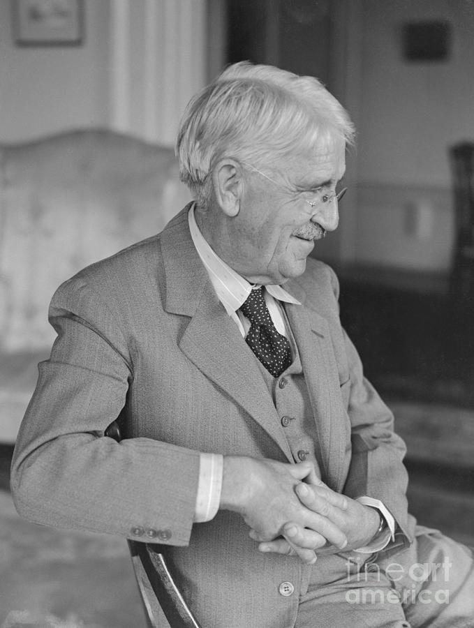 Philosopher John Dewey Sitting Photograph by Bettmann