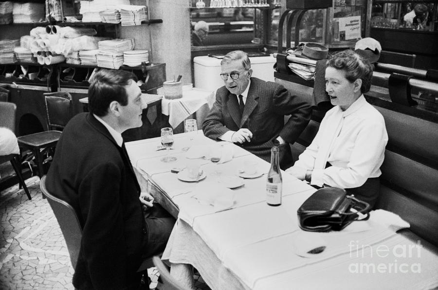 Philosophers Sartre, De Beauvoir Photograph by Bettmann