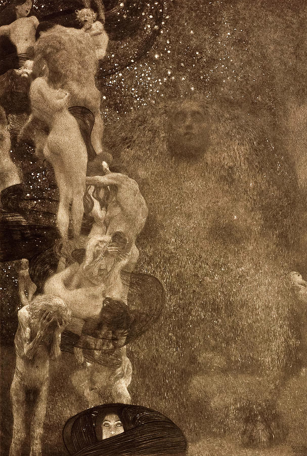 Philosophy, 1899 Painting by Gustav Klimt