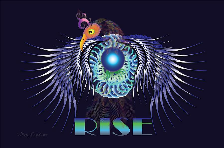 Phoenix Rising Digital Art by Nancy Cahill