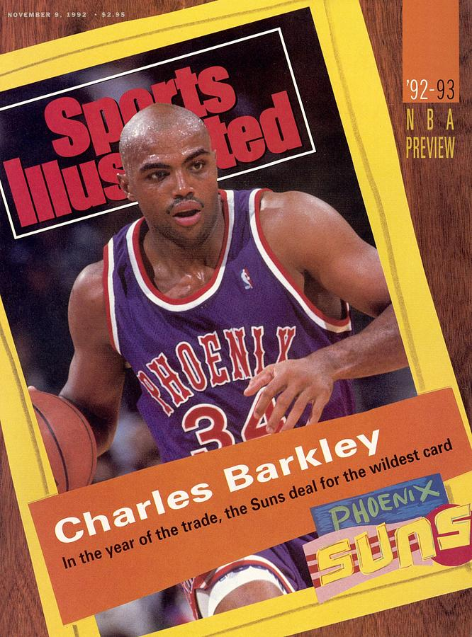 Phoenix Suns Charles Barkley, 1992-93 Nba Preview Issue Sports Illustrated Cover Photograph by Sports Illustrated