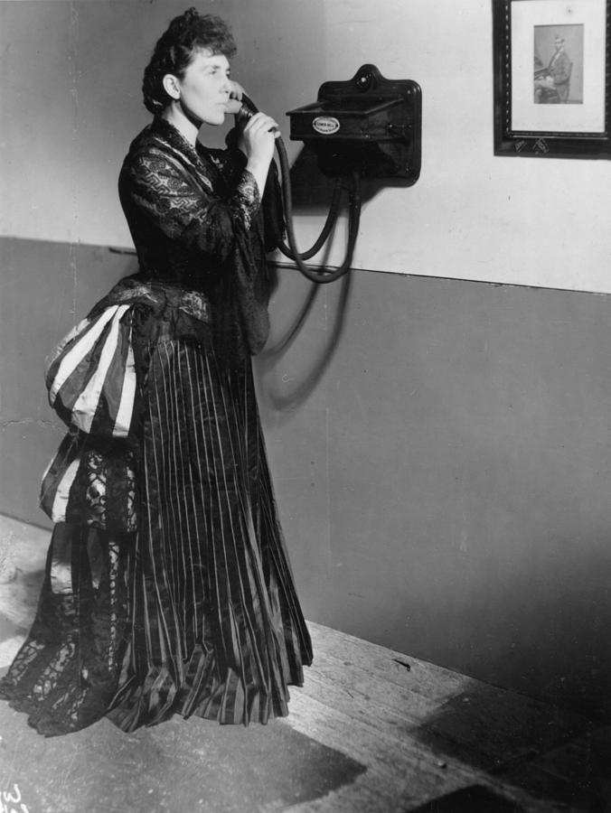 Phone Tube Photograph by Hulton Archive