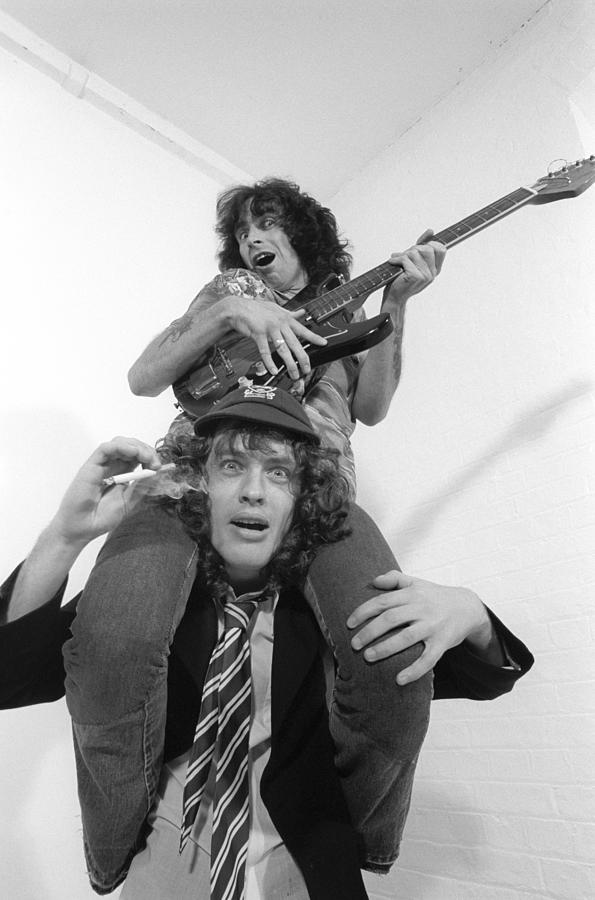 Photo Of Ac Dc And Bon Scott And Acdc Photograph by Fin Costello