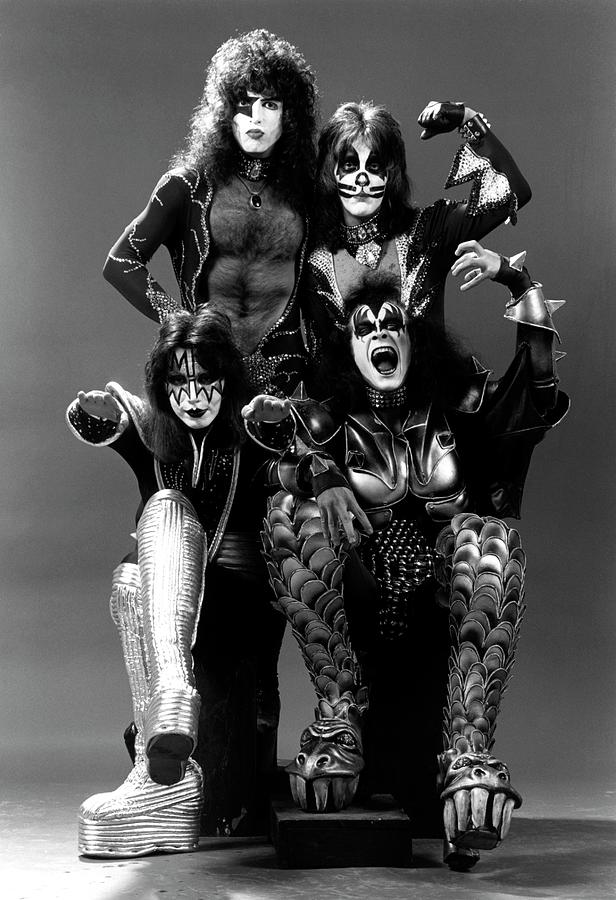 Photo Of Ace Frehley And Peter Criss Photograph by Fin Costello