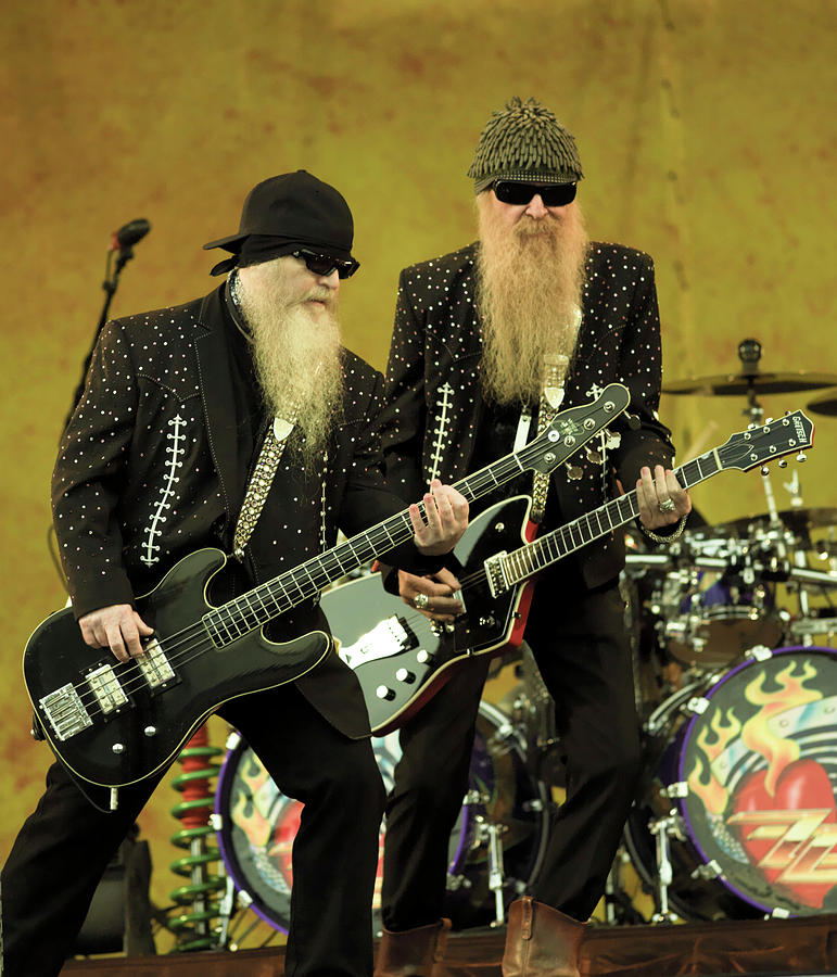 Photo Of Billy Gibbons And Dusty Hill Photograph by David Redfern