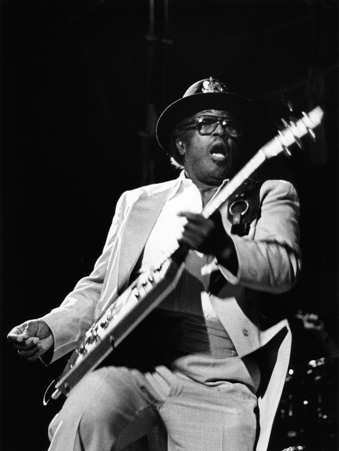 Photo Of Bo Diddley Photograph by Fin Costello