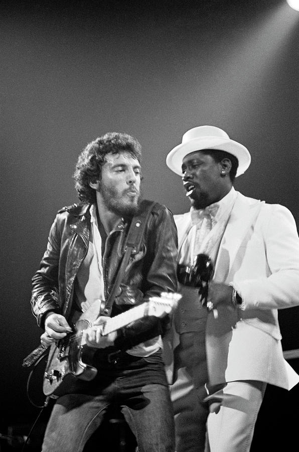 Photo Of Bruce Springsteen And Clarence Photograph by Fin Costello