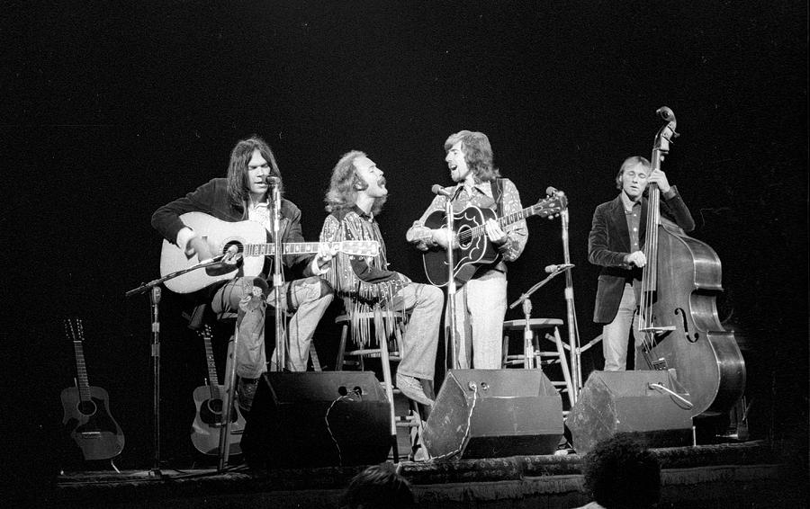 Photo Of Crosby, Stills, Nash & Young Photograph by Tom Copi