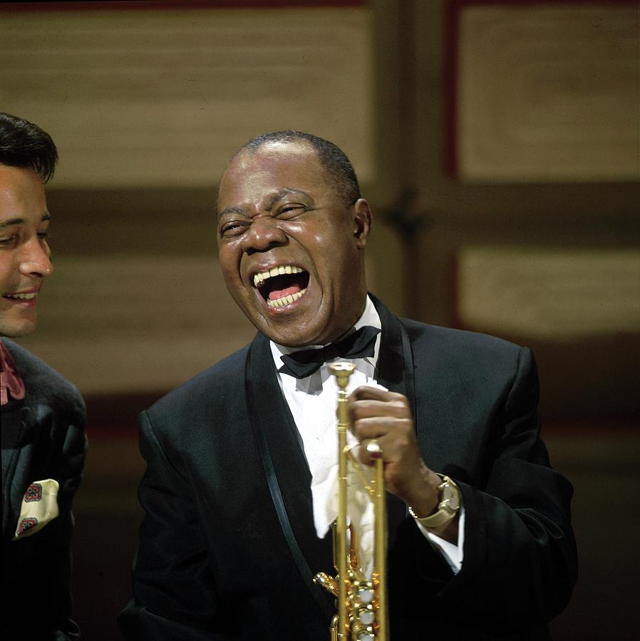 Photo Of Herb Alpert And Louis Armstrong Photograph by David Redfern