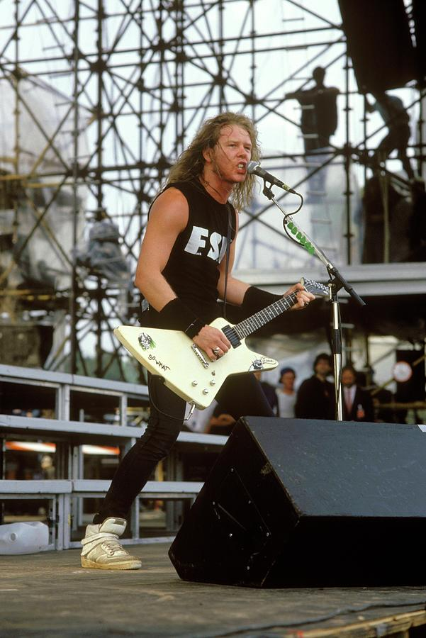 Photo Of James Hetfield And Metallica Photograph by Mike Cameron