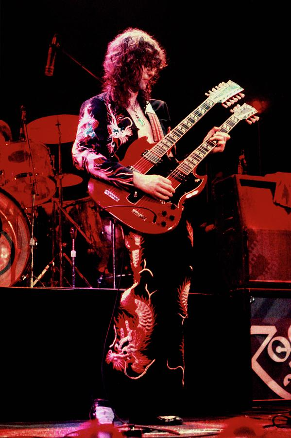 Led Zeppelin Photograph - Photo Of Jimmy Page And Led Zeppelin by Graham Wiltshire