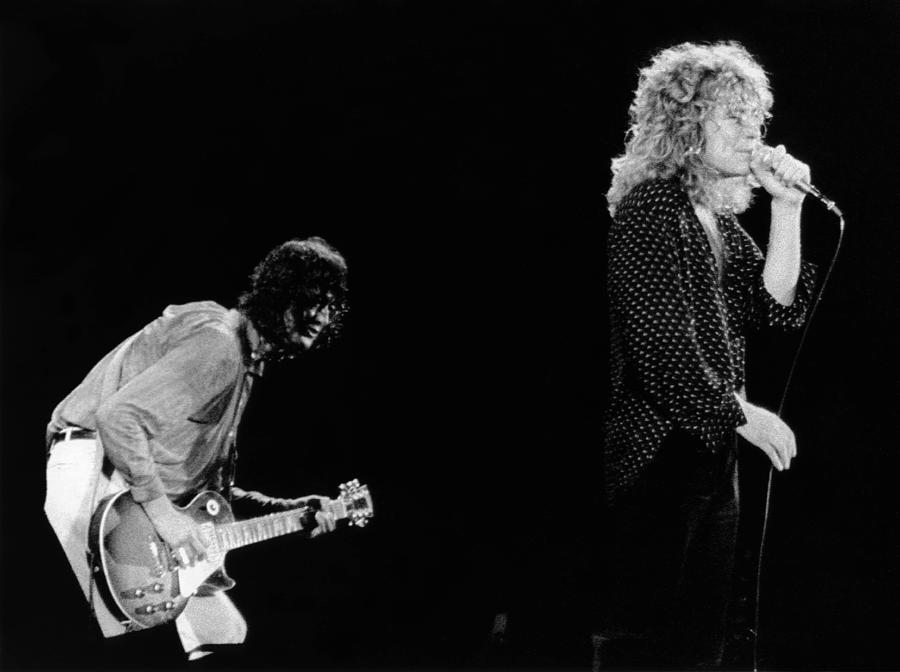 Photo Of Jimmy Page And Robert Plant Photograph by Graham Wiltshire