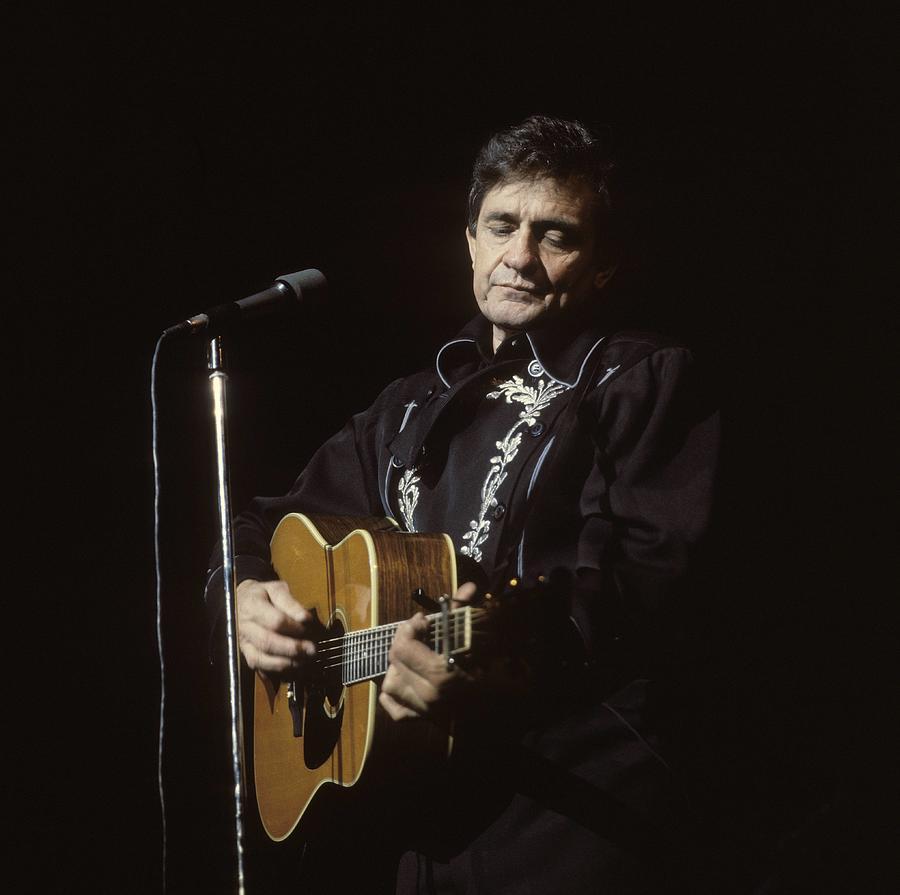 Photo Of Johnny Cash Photograph by David Redfern