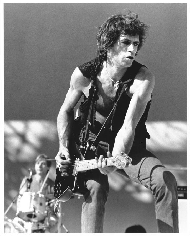 Photo Of Keith Richards Photograph by Larry Hulst