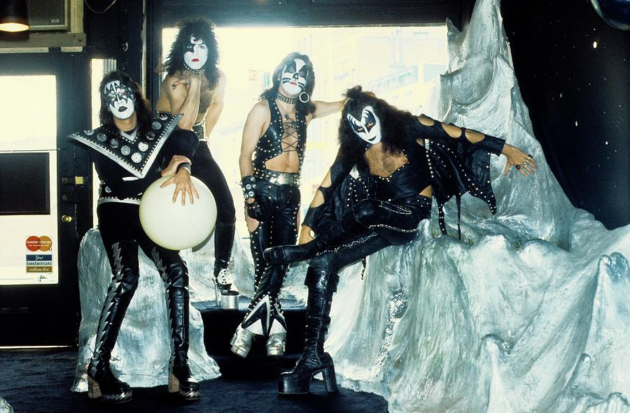 Photo Of Kiss And Gene Simmons And Paul Photograph by Steve Morley